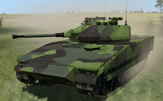 CV90 3D model in VBS3 for Swedish Armed Forces training