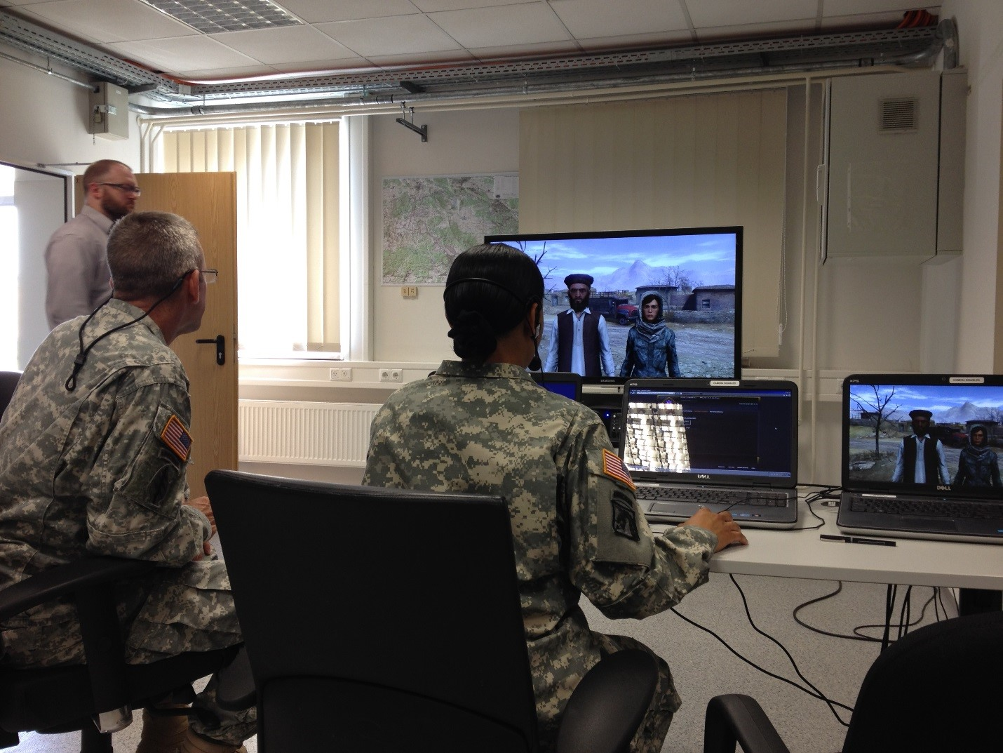 Soldiers use tactical questioning system with VBS. Credit: US Army