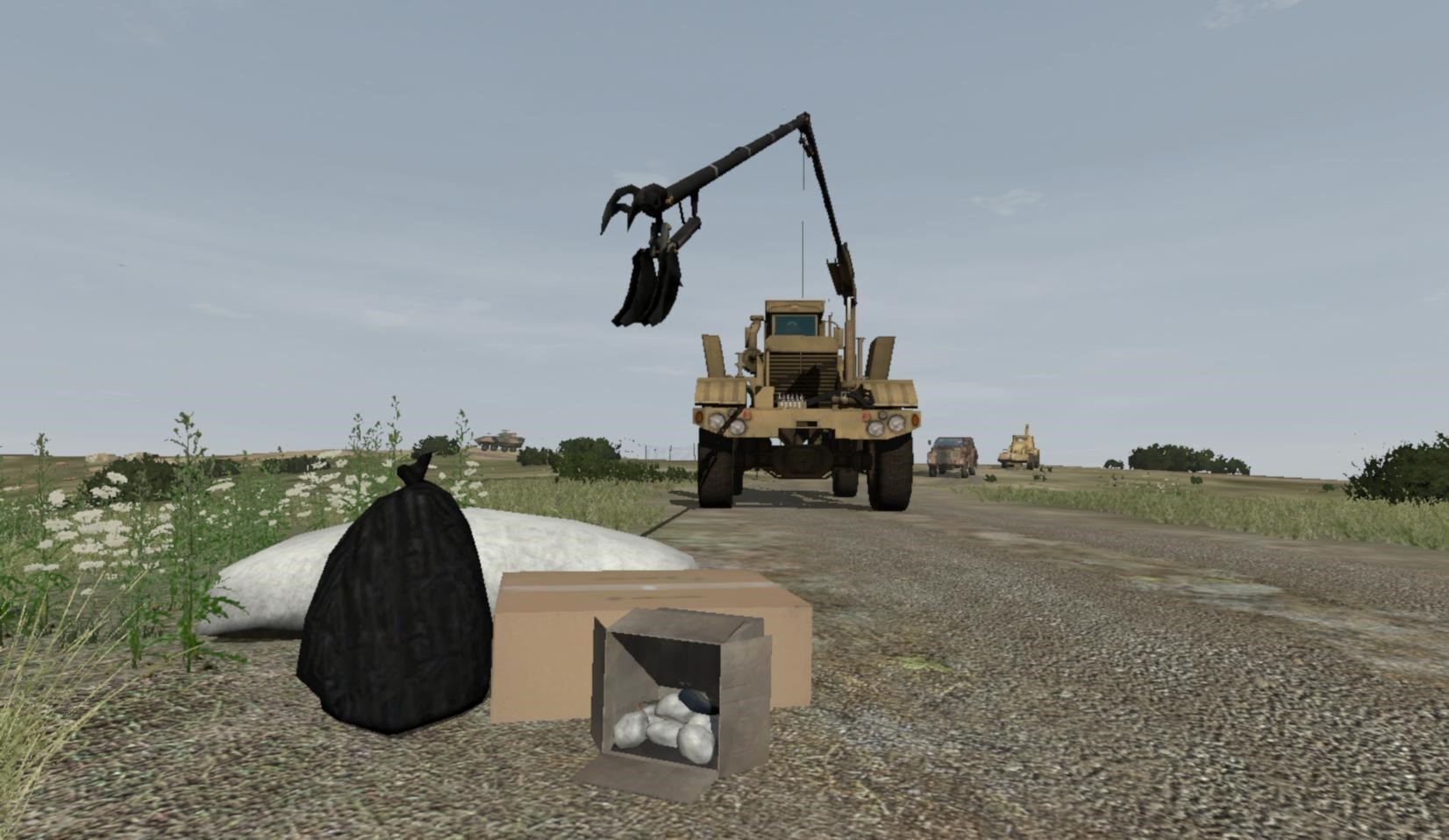 ADF Husky model in VBS3 Counter IED Route Clearance Military Training and Simulation