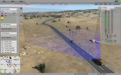 military simulation training AAR