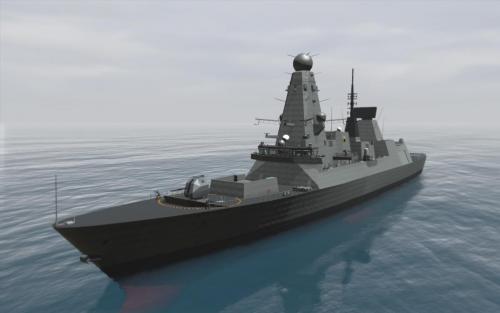 virtual 3D models Type 45