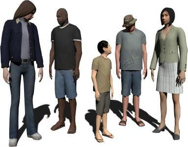 3D characters modeling and simulation