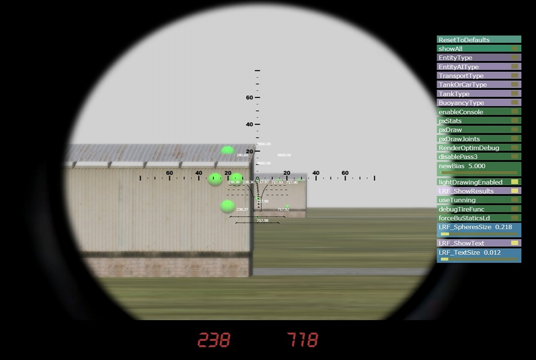 VR military games advanced laser range finder simulation