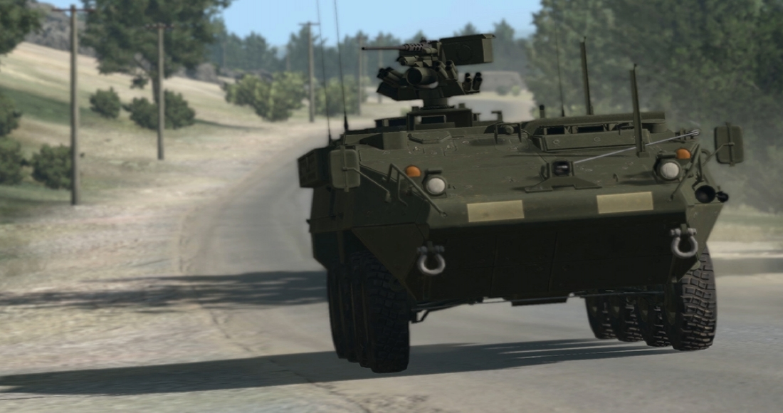 VBS3 Stryker driver trainer