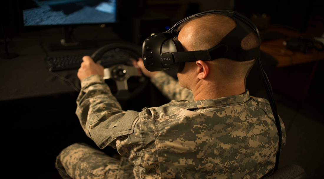 virtual reality military training