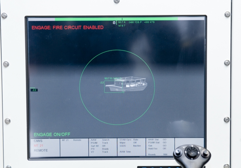 close-in weapons trainer New Zealand Navy gunnery simulator