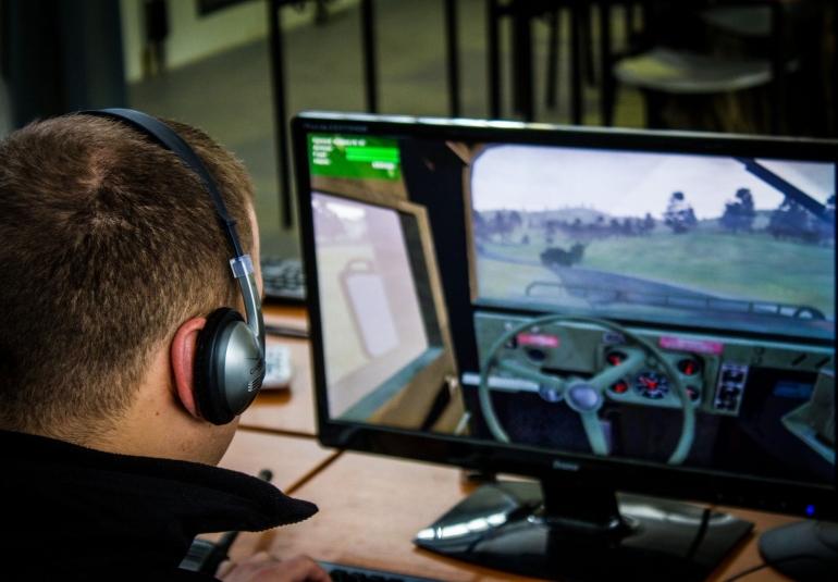 3D virtual military training simulation tanks APCs mechanized vehicles