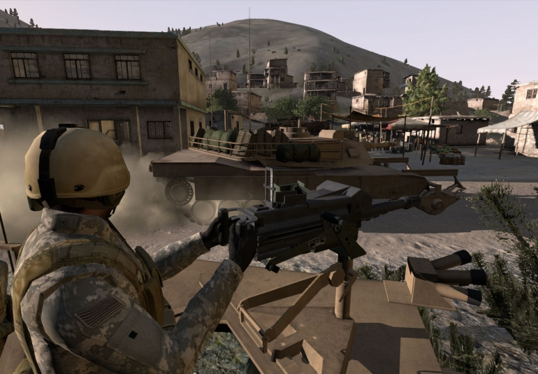 military simulation training VBS3 virtual environment first person shooter multiplayer game US Army