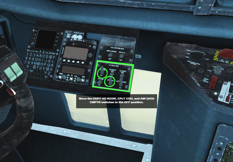 AC-130 virtual training high-fidelity 3D cockpit intelligent tutor system