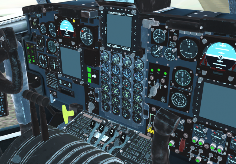 AC-130 virtual flight checklist training high-fidelity interactive 3D cockpit