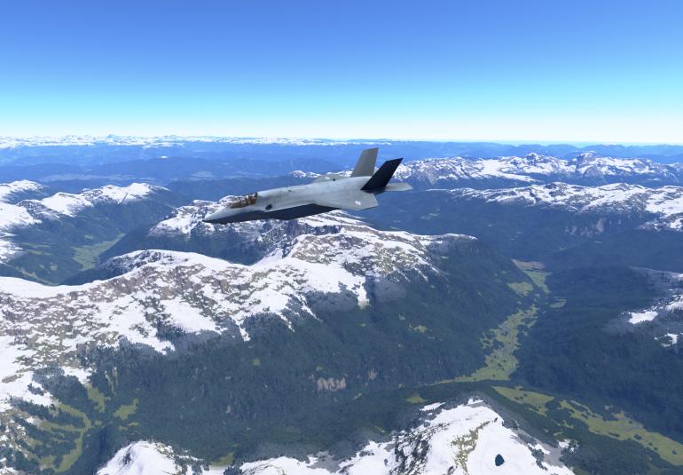 VBS Blue IG image generator F-35 simulation military flight training
