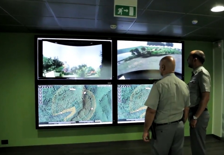 Vitrociset developed the Forest Fire Area Simulator using VBS3 for multichannel displays