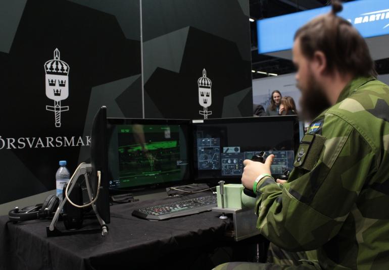 Swedish Armed Forces CV90 part-task trainer