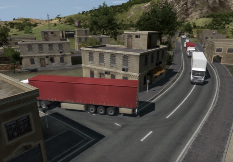 artificial intelligence for city civilian vehicle traffic in 3D megacity simulation
