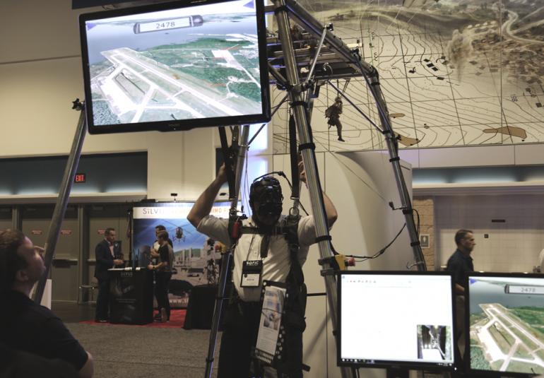 PARASIM® VR-based parachute training simulator VBS3 virtual training environment