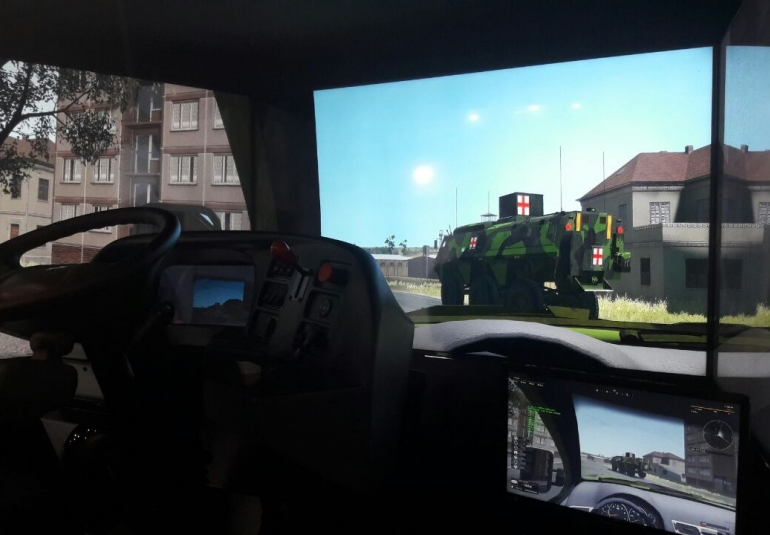 3D Military Vehicles Simulator motion platform VBS3 driver training driving simulation