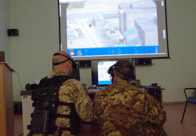 FAC military simulation virtual training HMD
