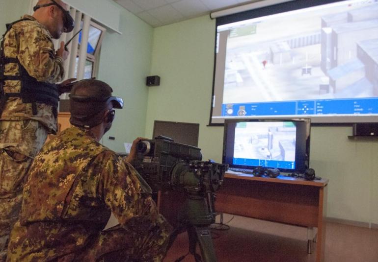 FAC military simulation virtual training laser designator