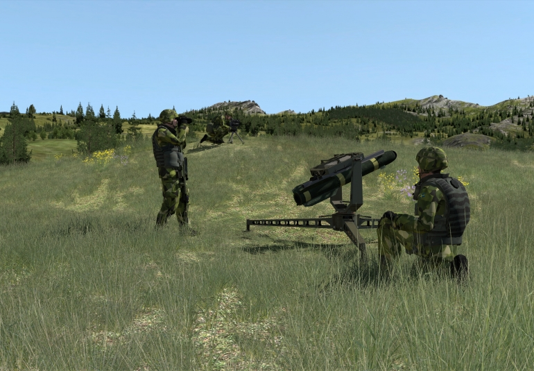 Swedish Army 3D models in VBS3 for forward observer training