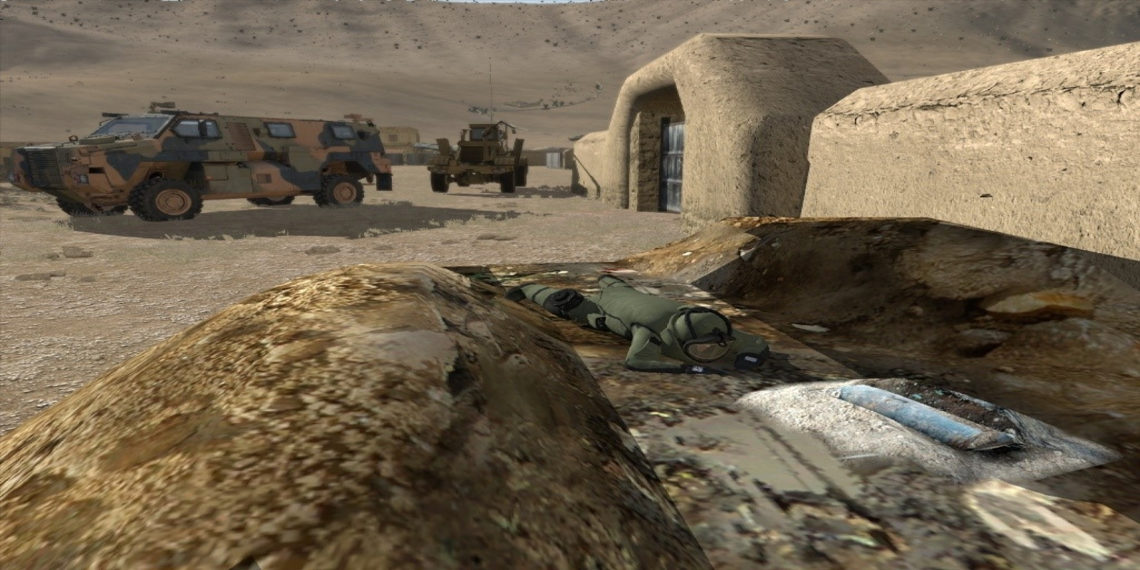 EOD Unit Approaching IED in VBS3